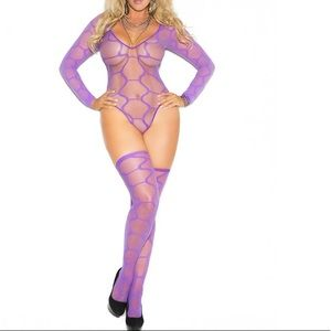Other - Plus (Queen) size lingerie ~ Purple teddy set